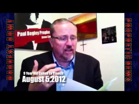 Paul Begley - 9 Yrs Old Girl Called To Preach Watching World Revival Convention Nyc Aug.2012