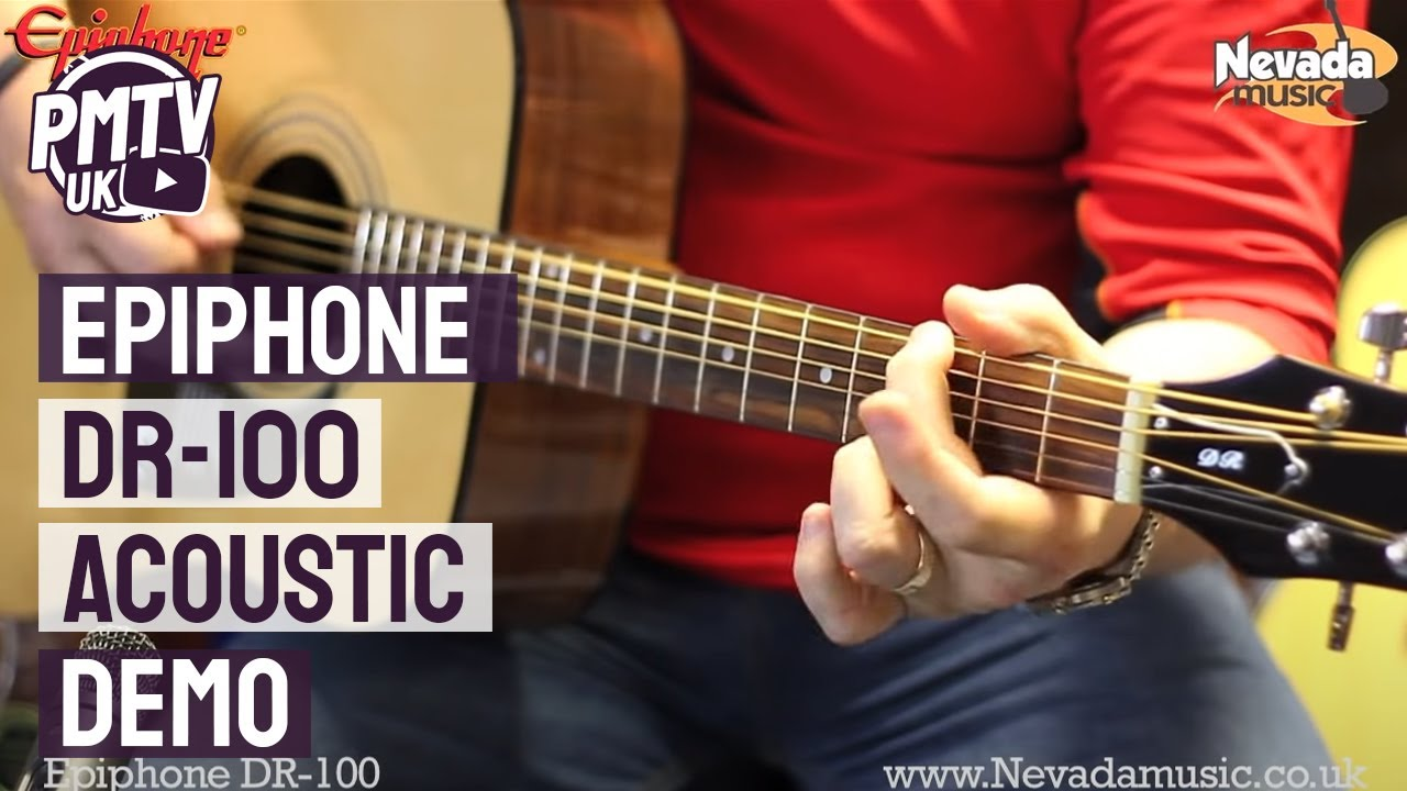 Epiphone DR-100 Acoustic Guitar Demo – Richie Stopforth @ PMT
