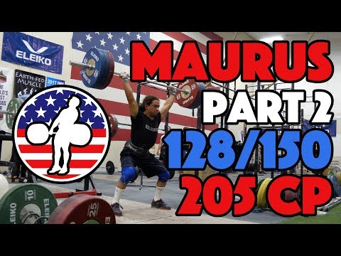 Harrison Maurus Part 2/11 Pre 2017 WWC Training 128/150 + 205x2 CP [4k60]