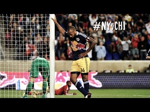 thierry - Goal! New York Red Bulls 1, Chicago Fire 1. Thierry Henry (New York Red Bulls) right footed shot from outside the box to the top right corner. As Subscribe t...