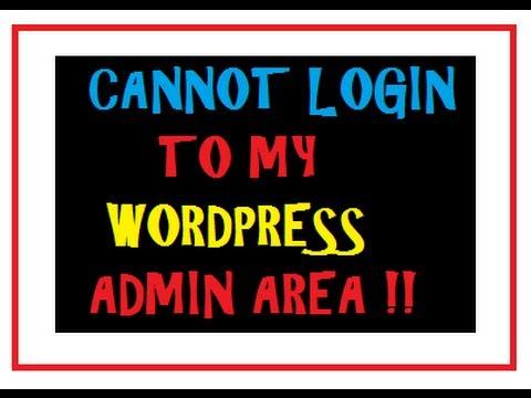 Can't Login To WordPress Admin – Error Fix