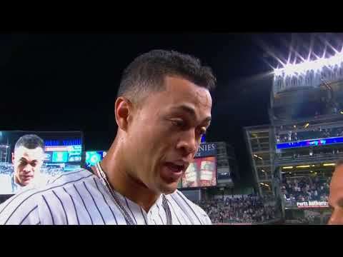 Giancarlo Stanton on his walk-off home run