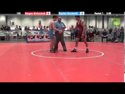 Men 145 – Keegan McCormick vs. Hayden Stockwell