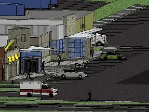 3D CAD animation of travel plaza design