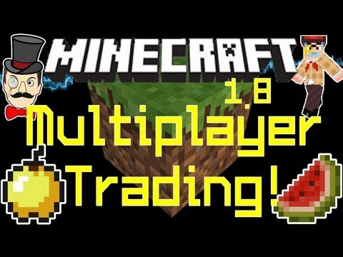 Minecraft SMP TRADING Mod ! Trade Items In Multiplayer With Custom GUI !