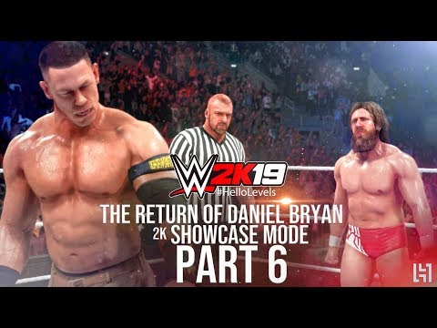 WWE 2K19 2K Showcase Mode Part 6 - Daniel Bryan vs John Cena Gameplay Match ft. Triple H As Referee