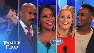 Video ALL-TIME GREATEST MOMENTS in Family Feud history!!! | Part 5 | More FUNNIEST Answers! MP3, 3GP, MP4, WEBM, AVI, FLV Maret 2019