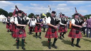 Excellent music Scottish Bagpipe and Drummers at my village gala fastivel