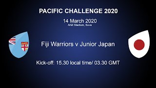 Live Junior Japan v Fiji Warriors Pacific Challenge Final