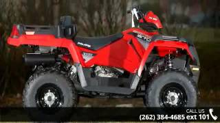 2. 2015 Polaris Sportsman X2 570 EPS Indy Red  - Action Powe...