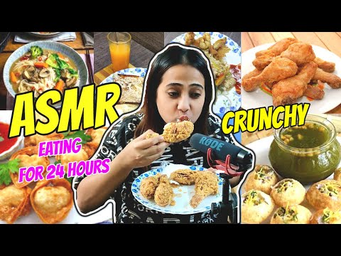 I only Ate in ASMR for 24 Hours    **Most Difficult Food Challenge**