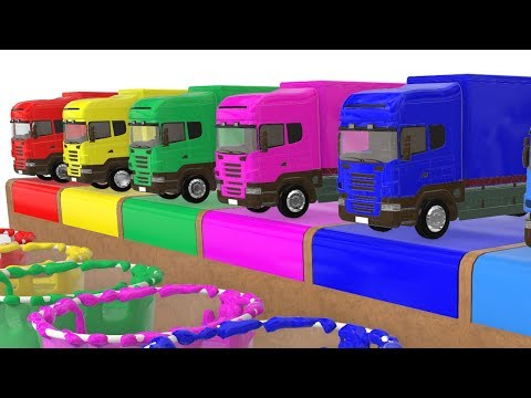 Colors With Funny Monster Truck Cars for Kids & Children Animation Songs