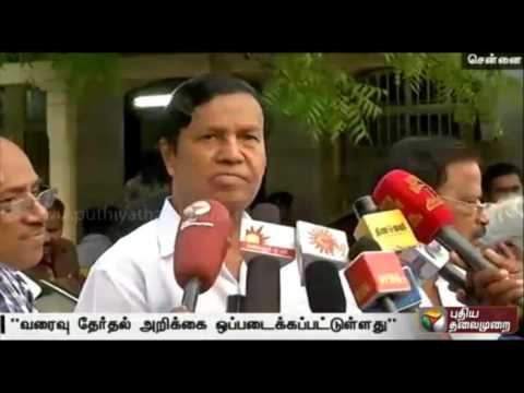 The-draft-election-report-handover-to-Karunanidhi-TR-Balu