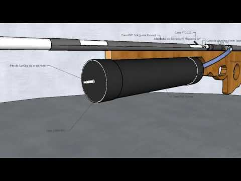 AirGun Caseira - Projeto (HomeMade - By Joabe Lacerda)