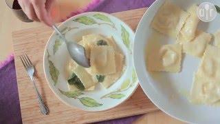 Raviolis au gorgonzola et à la poire