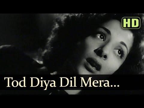 Video Tod Diya Dil Mera (HD) - Andaz Songs - Nargis - Dilip Kumar - Lata Mangeshkar download in MP3, 3GP, MP4, WEBM, AVI, FLV January 2017