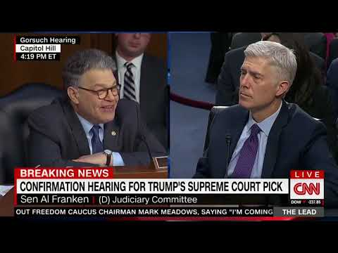 """Flashback: When Al Franken tried to outsmart Gorsuch, and Lost. Goodbye, Franken!"""