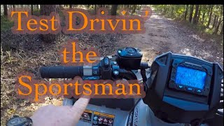 1. TEST DRIVING THE NEW 2019 POLARIS 450 SPORTSMAN ���