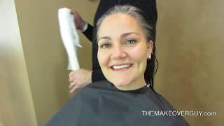 Miała dość ukrywania siwych włosów! 41 latka zdecydowała się na radykalną zmianę fryzury!