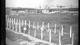 Fort Oglethorpe (GA) United States  City new picture : German prisoners work at an internment camp in Fort Oglethorpe, Georgia, in World...HD Stock Footage
