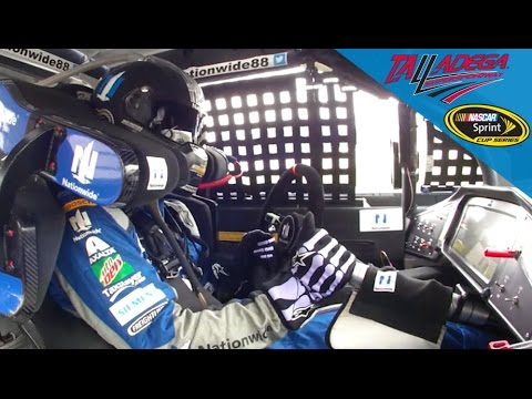 Dale Earnhardt Jr Drives With Steering Column
