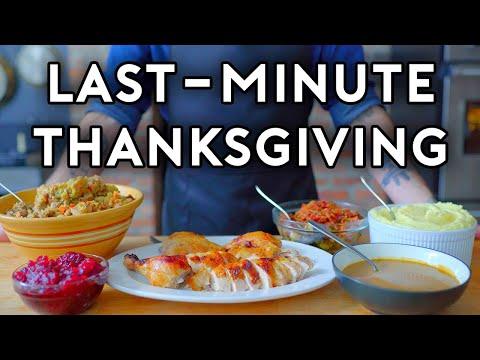 Last-Minute Thanksgiving | Basics with Babish