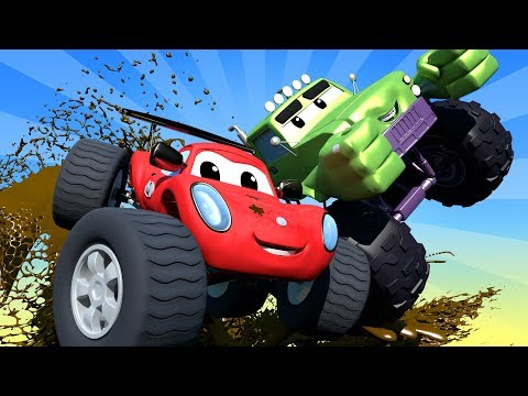 THE BEST OF MONSTER TRUCKS CARTOON COMPILATION ! Monster Town - Monster Trucks Cartoons for kids