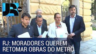 Kinoplex - Moradores pedem a Witzel retomada das obras da Estação Gávea do Metrô