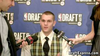 Cole Aldrich - 2010 NBA Draft Media Day - DraftExpress