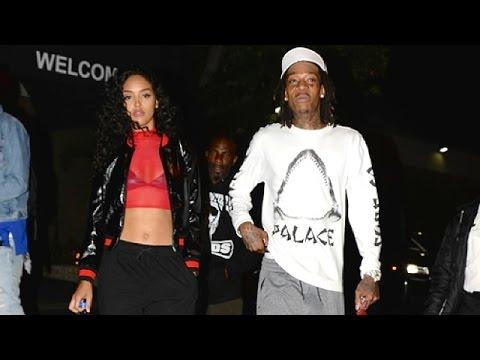 Wiz Khalifa And Sexy Brazilian Girlfriend Izabela Guedes At Pinz Bowling Alley