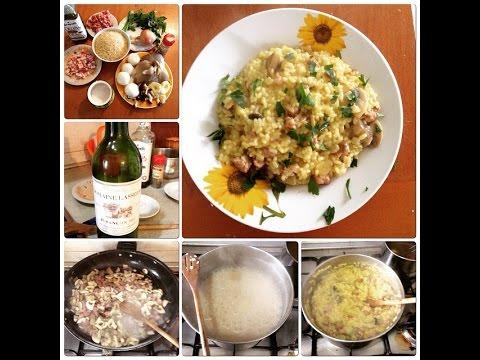 risotto alla boscaiola con zafferano - ricetta