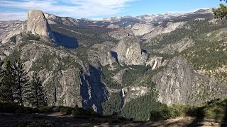 Views from across Yosemite National Park.