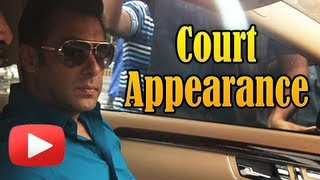 Salman Khan Appears In Court - Hit And Run Case - Visuals