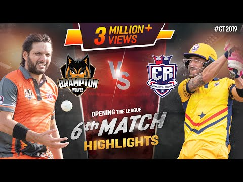 Edmonton Royals vs Brampton Wolves | Match 6 Highlights | GT20 Canada 2019