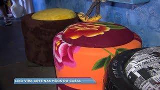 Casal de Bauru se dedica há mais de 30 anos na produção de artesanato sustentável