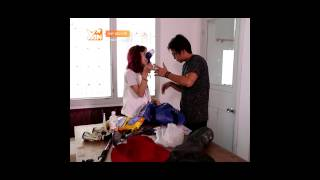 Quang Bảo cùng Kim Nhã chuẩn bị đồ dùng đi phượt, yantv, yan tv, yan news
