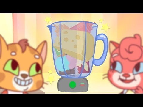 Cat Family | Cartoon for Kids | New Full Episodes #58 - Delicious Smoothie