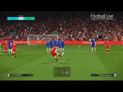 PES 2018 | Liverpool FC Vs Chelsea FC | 5 Goals - Derby Full Match | Gameplay PC