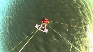 Salto En Kitesurf En La Laguna De Mar Chiquita, Full Hd 30 Frames