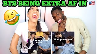 Video BTS being extra AF in America (Reaction)🤣 download in MP3, 3GP, MP4, WEBM, AVI, FLV January 2017
