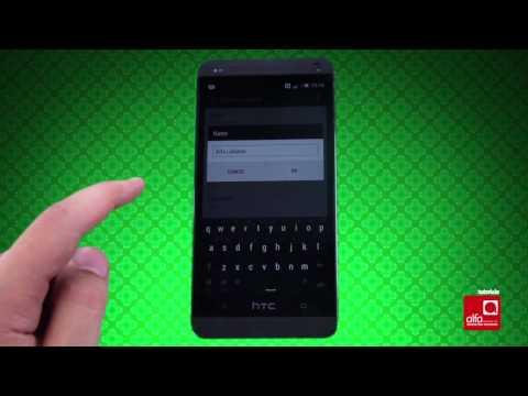 كيف تدخل إعدادات الإنترنت التابعة لألفا على هاتف HTC