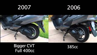 8. Difference between 2006 and 2007 Suzuki Burgman 400s