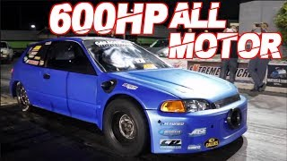 600HP All Motor Civic Breaks 8's! | Worlds Fastest 4 Cylinder | 2500HP 2JZ Nissan |1300HP AWD Civic by  That Racing Channel