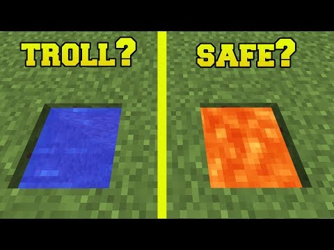 Minecraft: SPOT THE TROLL!!! (WHICH ONE IS SAFE?!) Custom Map