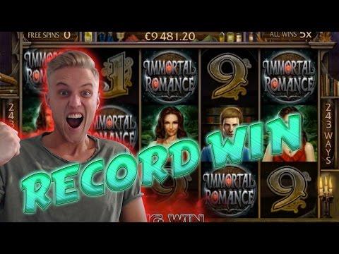 RECORD WIN ON IMMORTAL ROMANCE - BIG WIN 3.60 euro betsize MEGA WIN with Epic reactions