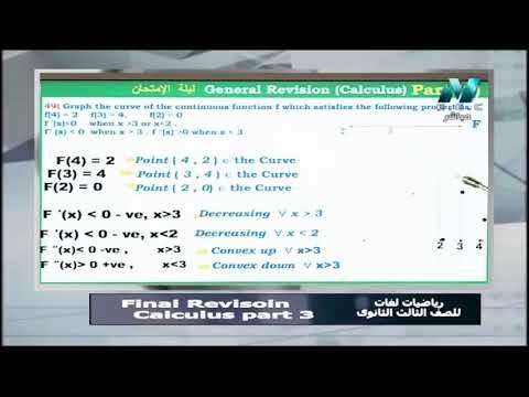 تفاضل وتكامل لغات الصف الثالث الثانوى 2019 - مراجعة ليلة الامتحان - الحلقة (3 والاخيرة) 28-6-2019
