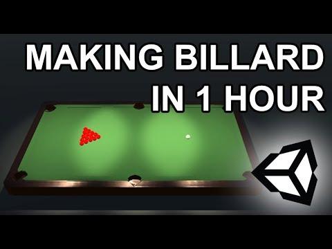 3D BILLARD GAME IN 60 MINUTES