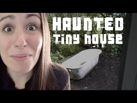WE STAY AT A HAUNTED TINY HOUSE 🏡