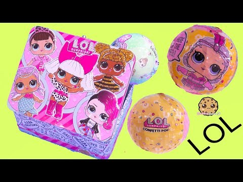 LOL Surprise Box ! Blind Bag Balls with Color Change Doll - Cookie Swirl C (видео)
