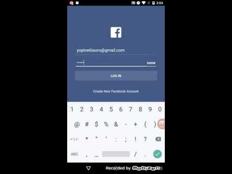 Facebook login issue sample video